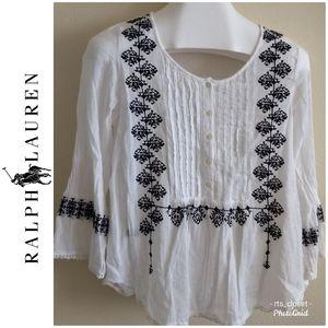 Ralph Lauren embroidered top